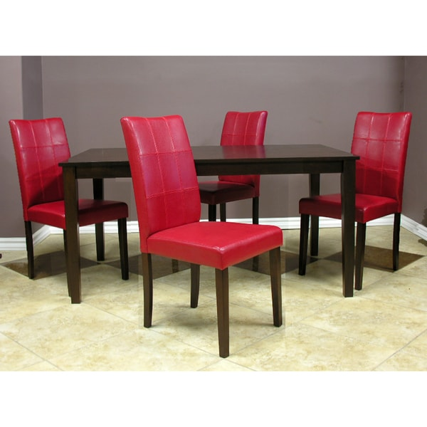 Red And Black Dining Room Sets: Warehouse Of Tiffany Evellen Red Dining Set (Set Of 5