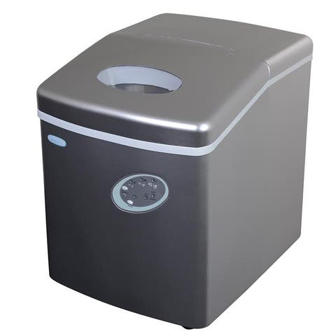 NewAir Portable Ice Maker 28 lb Countertop Bullet Shape - AI-100S - Silver