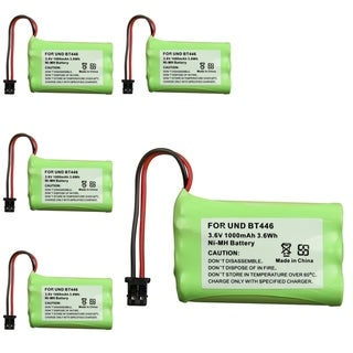 INSTEN Compatible Battery for Uniden BT-446 Cordless Phone (Pack of 5)