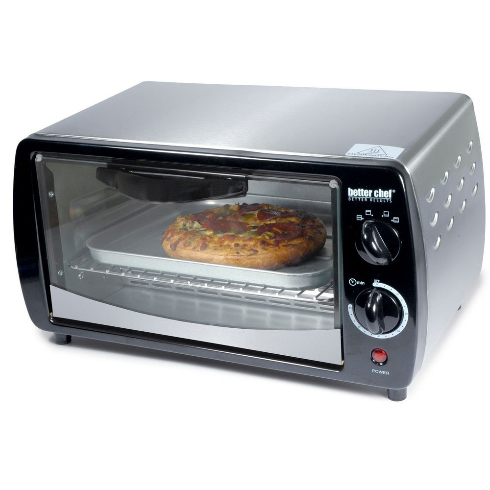 Better Chef Stainless Steel Toaster Oven (IM-269SB), Blac...