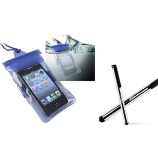INSTEN Waterproof Bag/ Stylus for HTC EVO 4G/ Droid Incredible 2/ S