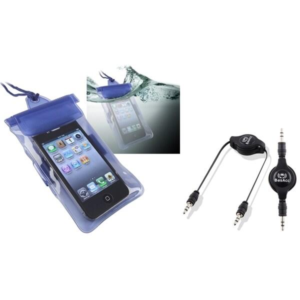 BasAcc Waterproof Bag/ Cable for HTC EVO 3D/ Amaze/ Rezound/ Titan II