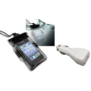 INSTEN Waterproof Bag/ Car Charger for Motorola Droid X/ X2/ Droid 2