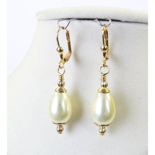'Louise' Pearl Teardrop Earrings