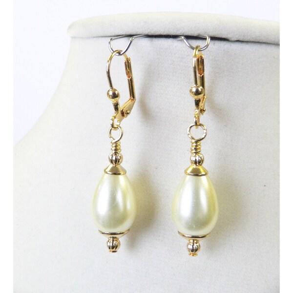 Louise X27 Pearl Teardrop Earrings