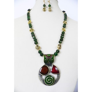 'Art Deco' Necklace And Earring Set