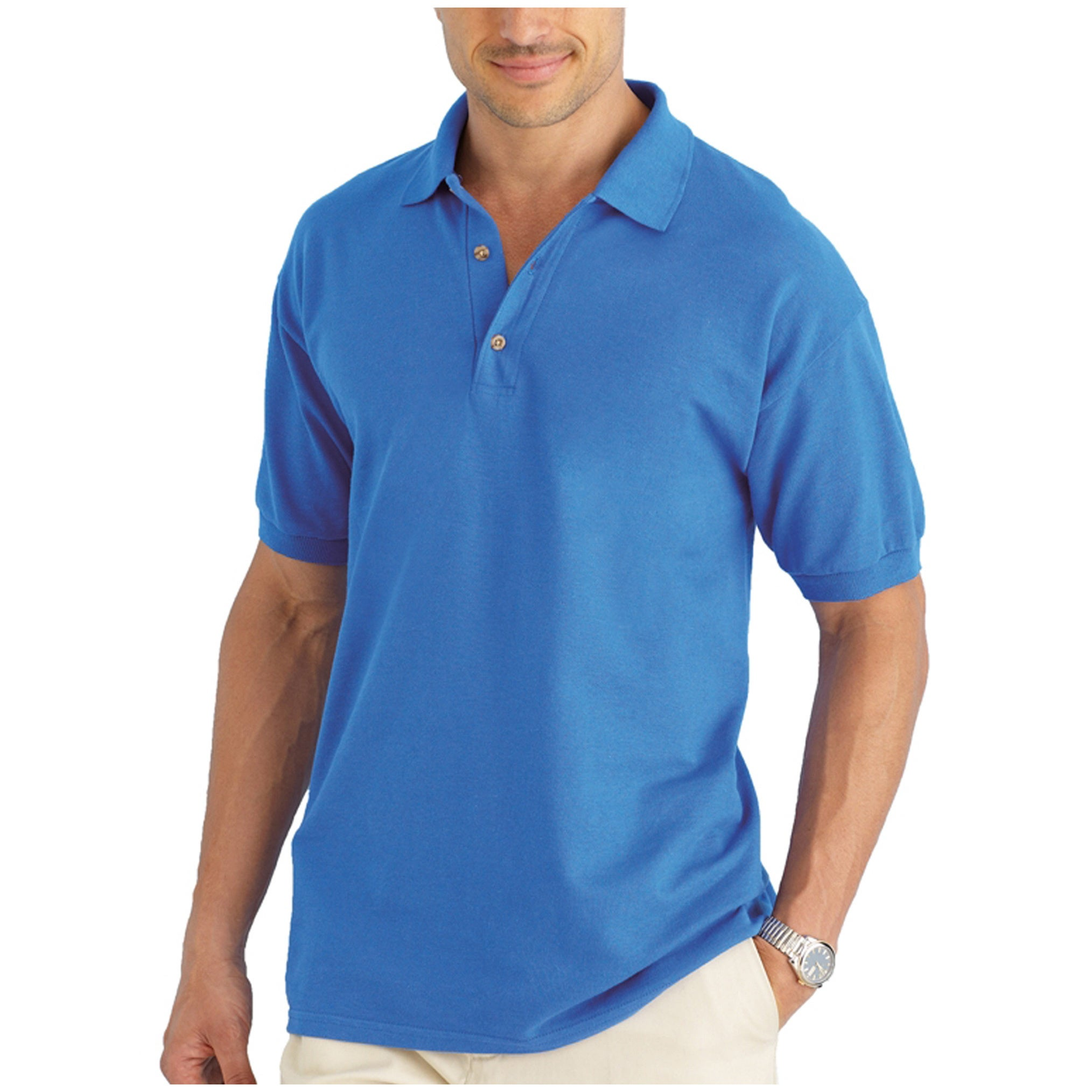 Shop Men's Cotton Short Sleeve Polo Shirt - On Sale - Overstock - 7411787