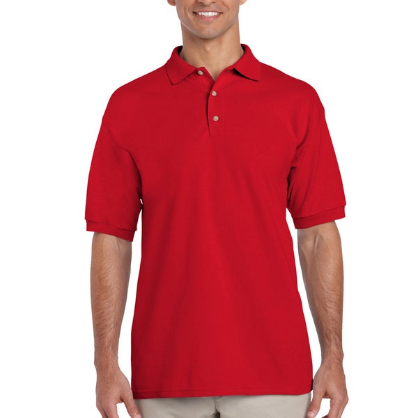 NEW MEN/'S RED POLO SHIRT SIZE XXL 100/% COTTON T-SHIRT SHORT SLEEVED