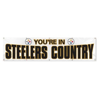 Party Animal Pittsburgh Steelers Banner (8'x2')
