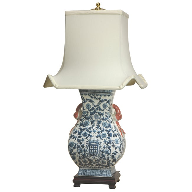 blue and white pagoda lamp china free shipping today. Black Bedroom Furniture Sets. Home Design Ideas