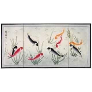 Nine Lucky Fish Silkscreen (China)