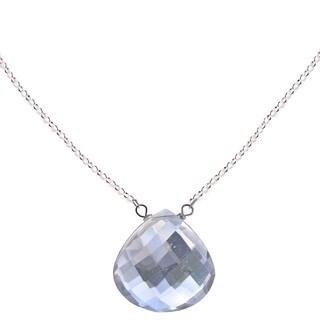 Handmade Ashanti Sterling Silver Natural Rock Crystal Necklace (Sri Lanka)