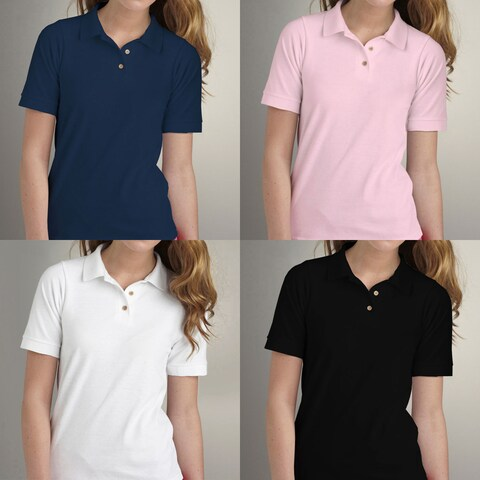 Los Angeles Pop Art Women's Pique Cotton Polo Shirt