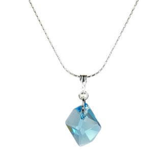 Jewelry by Dawn Sterling Silver Small Aquamarine Cosmic Crystal Necklace