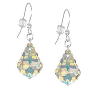 Jewelry by Dawn Sterling Silver Crystal Aurora Borealis Baroque Earrings|https://ak1.ostkcdn.com/images/products/7423810/P14877536.jpg?impolicy=medium