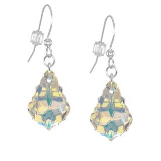 Handmade Jewelry by Dawn Sterling Silver Crystal Aurora Borealis Baroque Earrings (USA)