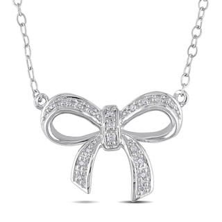 Miadora Sterling Silver Diamond Necklace