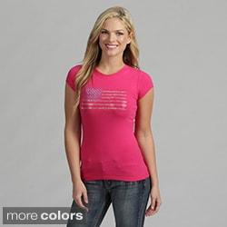 Women's Rhinestone 'USA Flag' Shirt