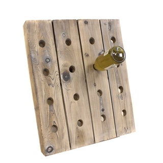French Style Reclaimed Wood 16-bottle Wine Rack Holder