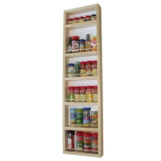 Solid Pine Wood 42-inch On-the-wall Spice Rack