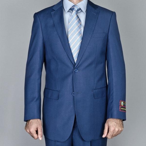 Men's Petroleum Blue 2-Button Suit