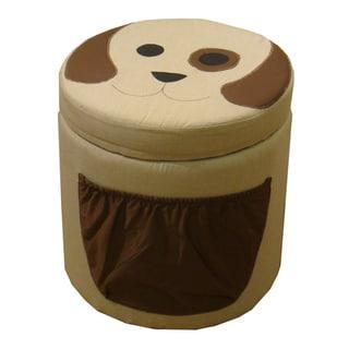 Kinfine Kid's Dog Design Round Storage Ottoman