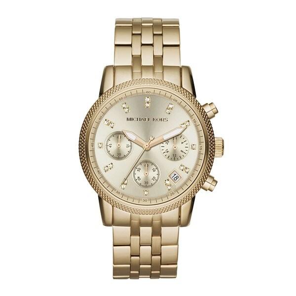 1888f9e7f2ea Shop Michael Kors Women s MK5676 Ritz Stainless Steel Watch - Free ...