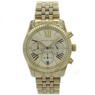 Michael Kors Women's MK5556 'Lexington' Goldtone Chronograph Watch