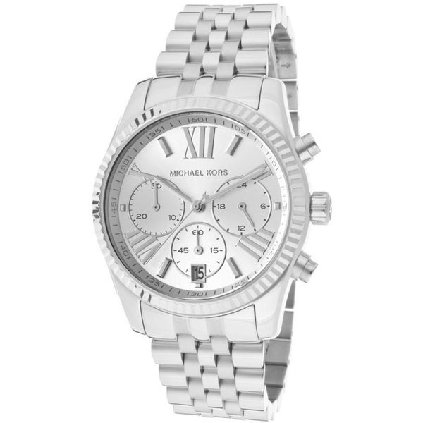 Michael Kors Women's Lexington Silver Chronograph Watch