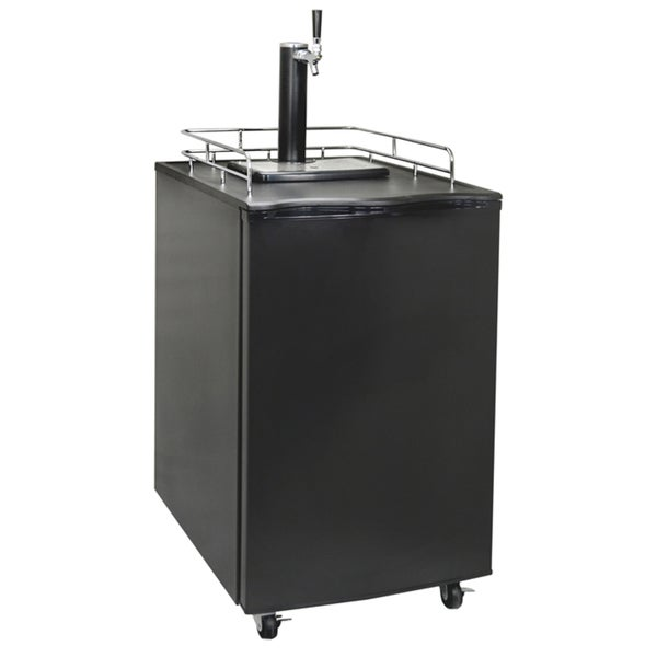 Newair Appliances Black Single Tap Beer Kegerator