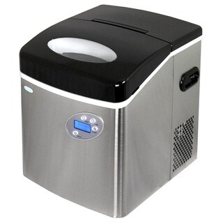 NewAir Appliances Stainless Steel Portable Ice Maker