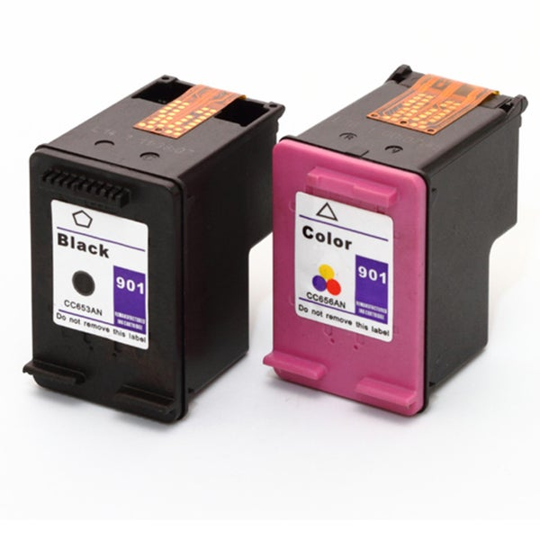 HP 901XL/ 901 Black/ Color Compatible Ink Set (Remanufactured)