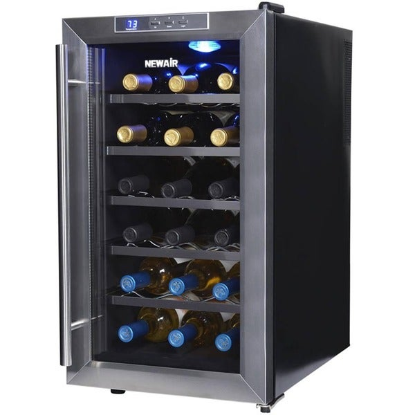 Newair 18 bottle thermoelectric wine cooler free for Modern homes 8 bottle wine cooler