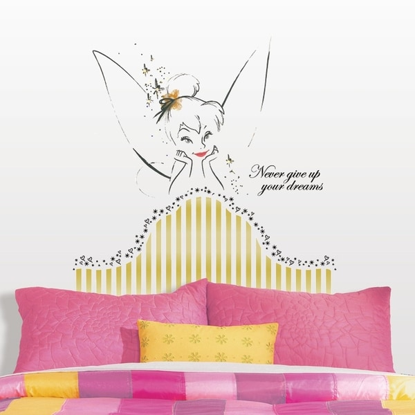 Bon Disney Fairies Tinkerbell Headboard Peel And Stick Giant Wall Decal