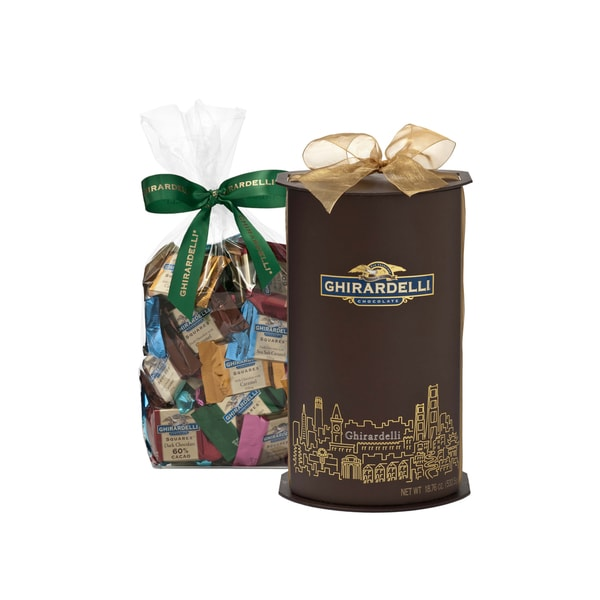 Ghirardelli San Francisco Skyline Cylinder Box