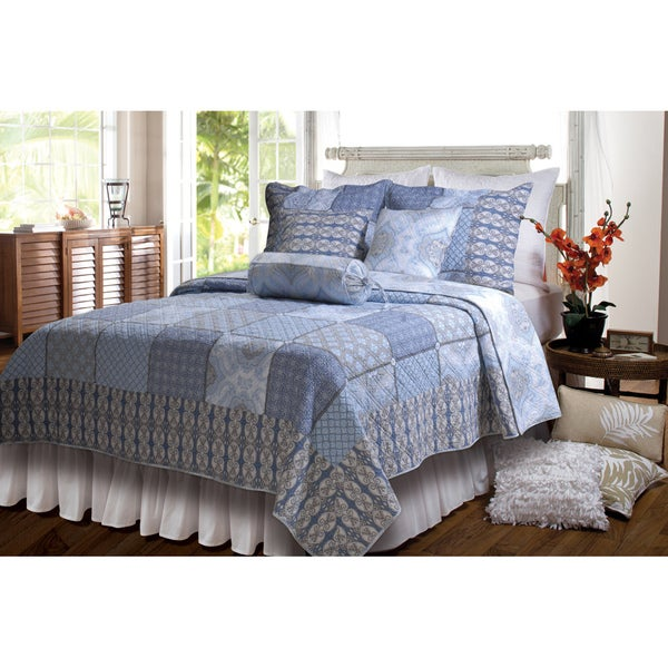 Greenland Home Fashions Casa Azure 3-piece Quilt Set