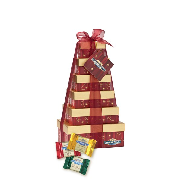 Ghirardelli Chocolate Holiday Heights Six Tier Gift Tower