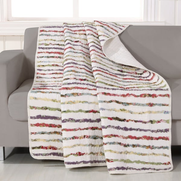 greenland home fashions bella ruffle quilted throw - Greenland Home Fashions