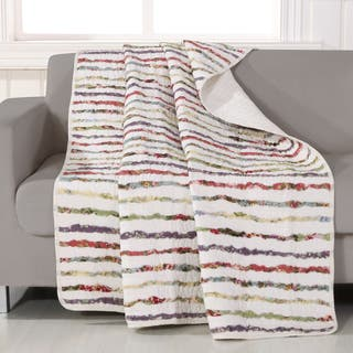 Greenland Home Fashions Bella Ruffle Quilted Throw|https://ak1.ostkcdn.com/images/products/7424163/P14877778.jpg?impolicy=medium