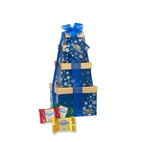 Ghirardelli Chocolate Winter Wishes Four Tier Gift Tower