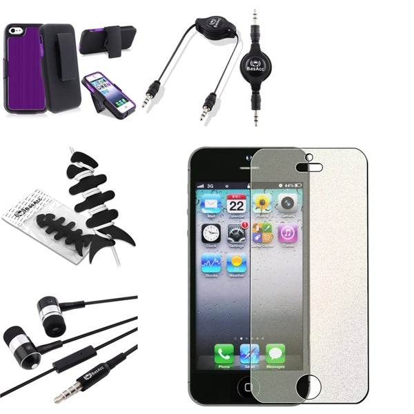 BasAcc Case/ Screen Protector/ Headset/ Cable for Apple iPhone 5