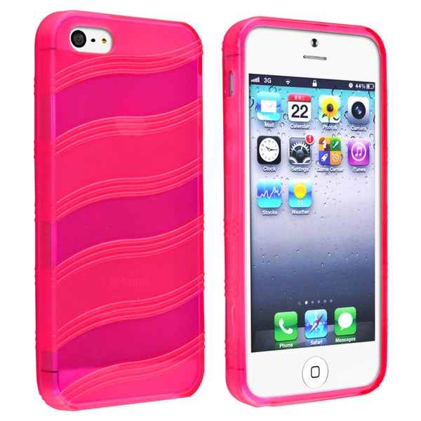 BasAcc Hot Pink Wave TPU Case for Apple® iPhone 5/ 5S
