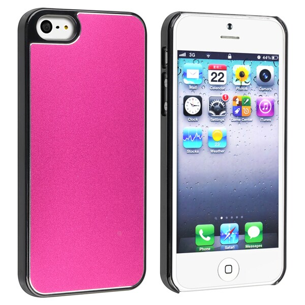 BasAcc Hot Pink Frost Aluminum Snap-on Case for Apple® iPhone 5