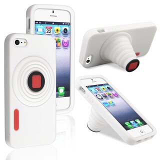 BasAcc White Camera Silicone Skin Case for Apple® iPhone 5/ 5S