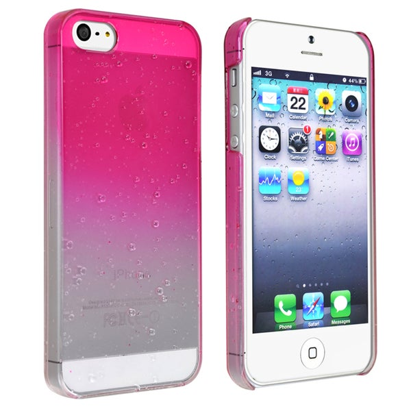 BasAcc Clear Hot Pink Waterdrop Snap-on Case for Apple iPhone 5
