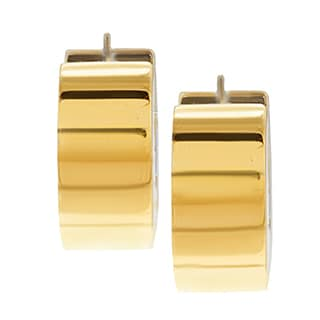 Pre-owned 18k Two-tone Gold Torino Estate Cuff Earrings