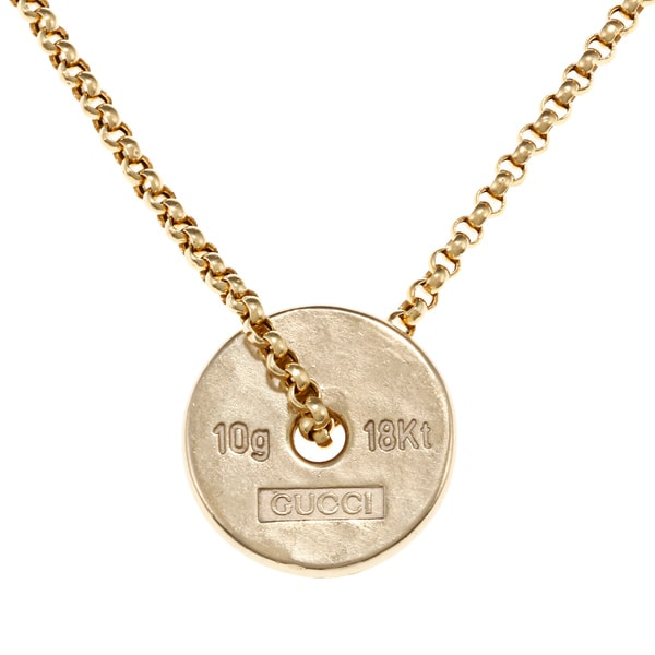 b9d94890d Shop Gucci 18k Yellow Gold 10-gram Ingot Estate Necklace - Free ...