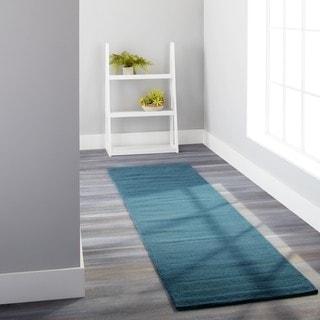Safavieh Handmade Himalaya Solid Turquoise Blue Wool Rug