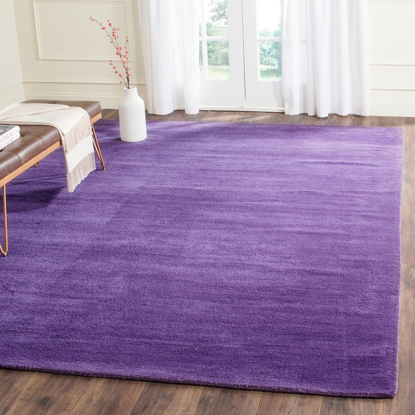 Safavieh Handmade Himalaya Solid Purple Wool Rug