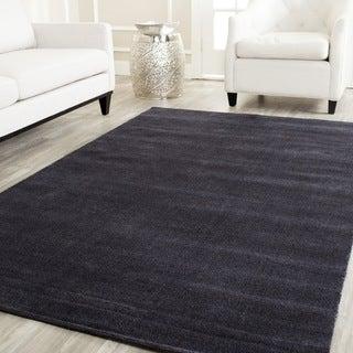 Safavieh Handmade Himalaya Solid Black Wool Rug